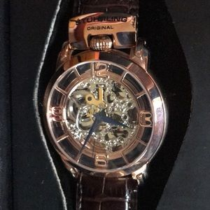 STUHRLING original men's watch with leather band